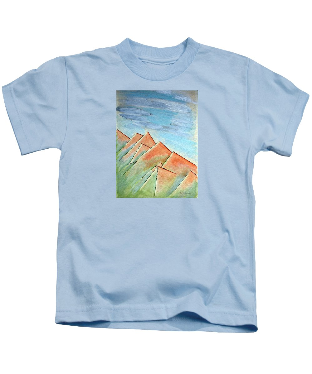 Painting Kids T-Shirt featuring the painting Coastal Range by J R Seymour