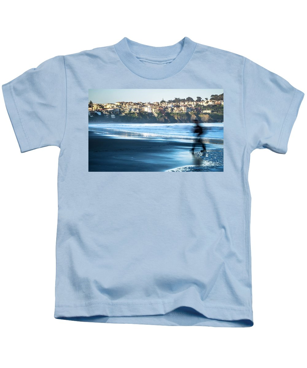 Usa Kids T-Shirt featuring the photograph Coastal Scenes At Usa Pacific Coast by Alex Grichenko