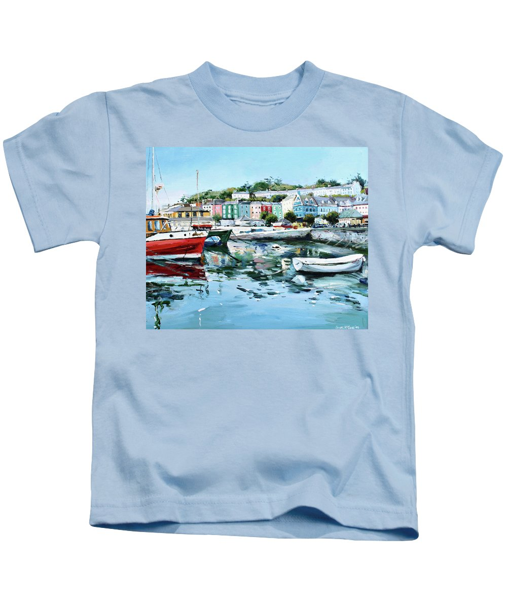 Cobh Kids T-Shirt featuring the painting Cobh Harbour County Cork by Conor McGuire