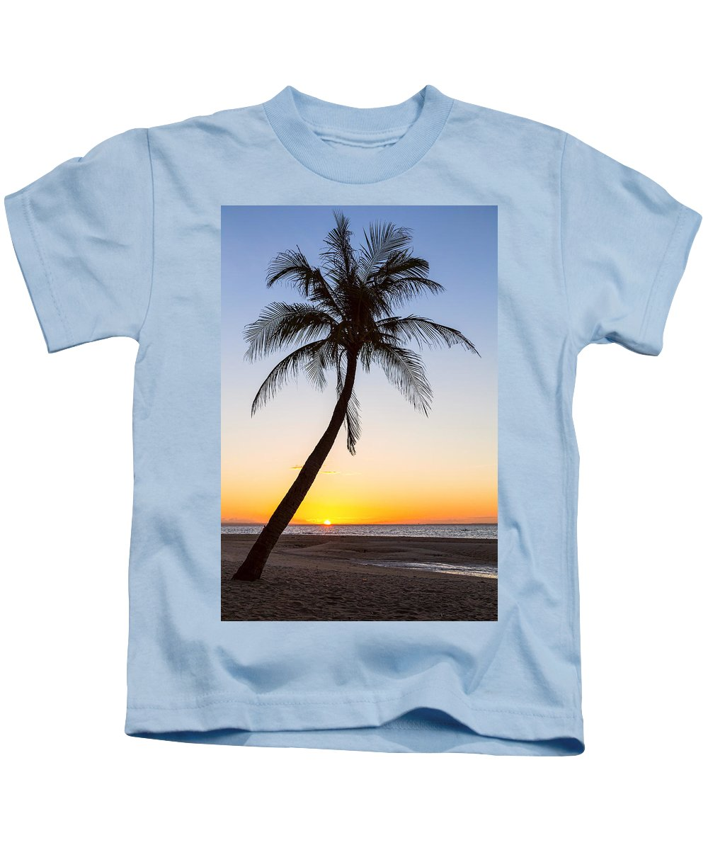 Beach Kids T-Shirt featuring the photograph Coco Mo Tropical Sunrise by James BO Insogna