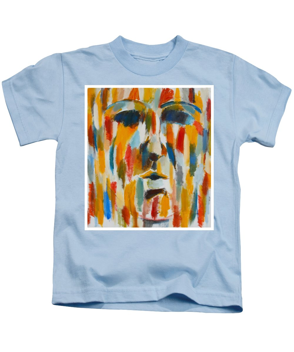 Yellow Kids T-Shirt featuring the painting Color Blind by Habib Ayat