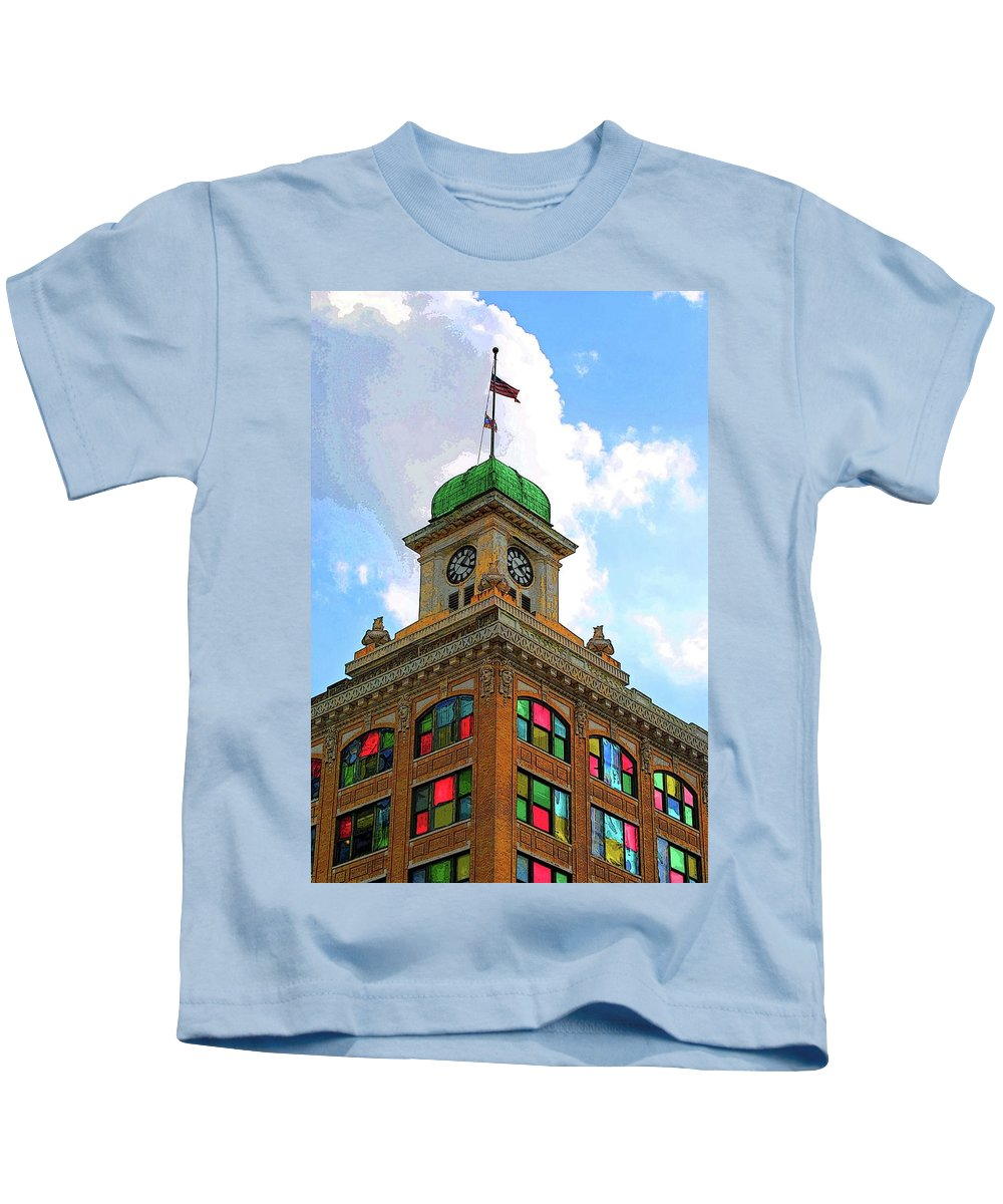 City Hall Kids T-Shirt featuring the photograph Color Of City Hall by Jost Houk