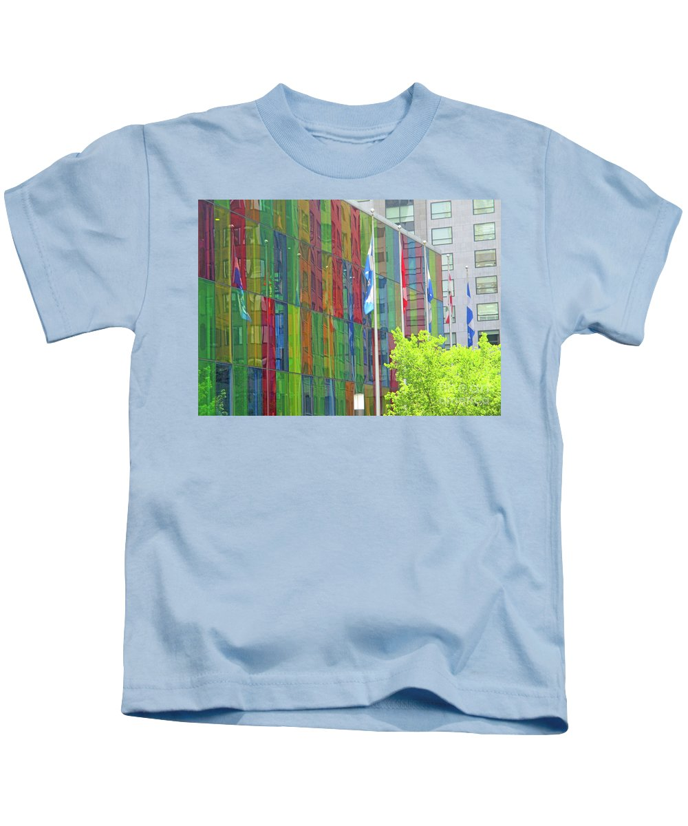 Montreal Kids T-Shirt featuring the photograph Colored Glass 12 by Randall Weidner