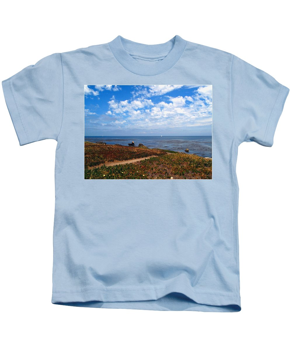 Beach Kids T-Shirt featuring the photograph Come Sit With Me by Joyce Dickens
