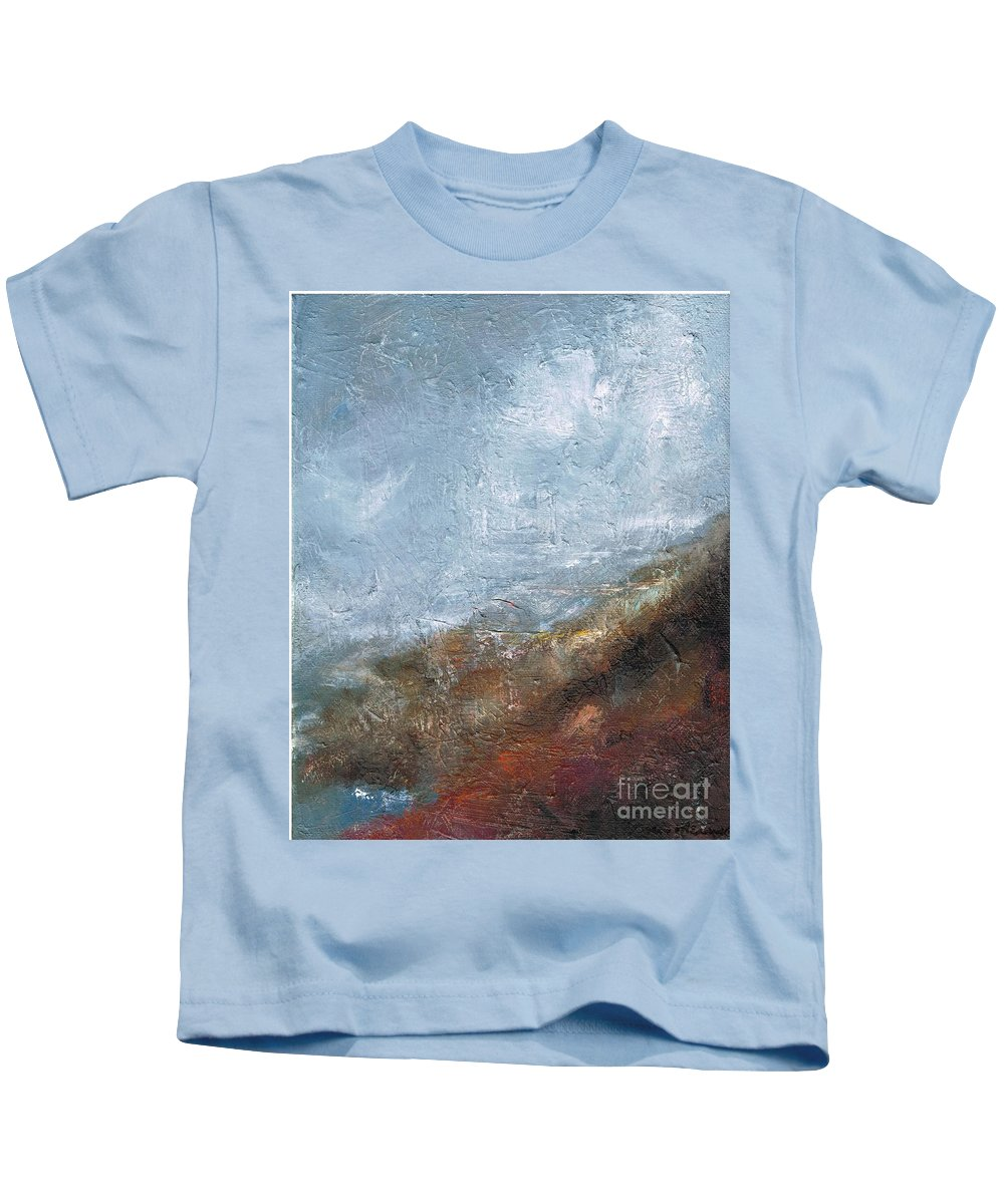 Abstract Kids T-Shirt featuring the painting Coming Out Of A Fog by Frances Marino