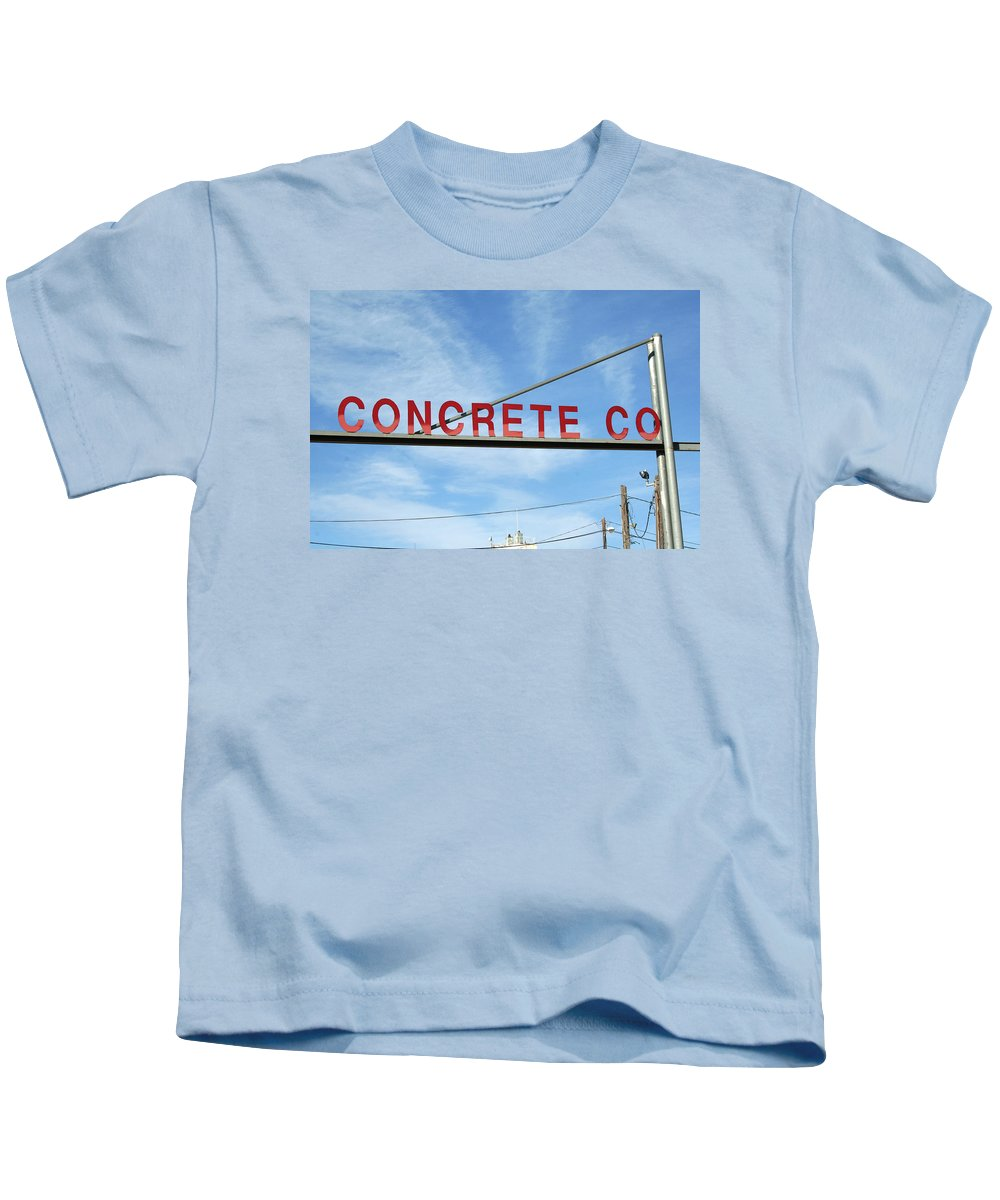 Concrete Kids T-Shirt featuring the photograph Concrete Company by Ric Bascobert