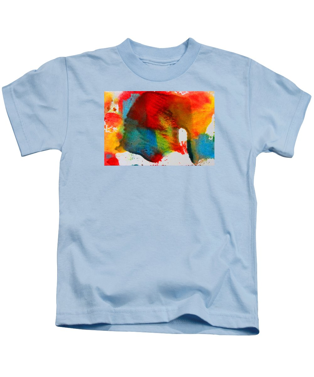 Abstract Kids T-Shirt featuring the painting Connection by Kruti Shah