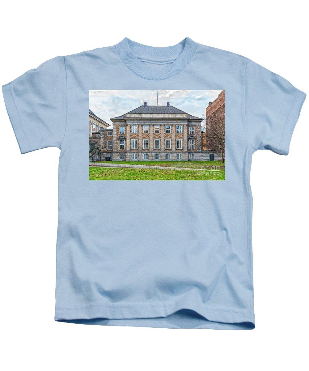 Eastern Kids T-Shirt featuring the photograph Copenhagen Eastern High Court by Antony McAulay