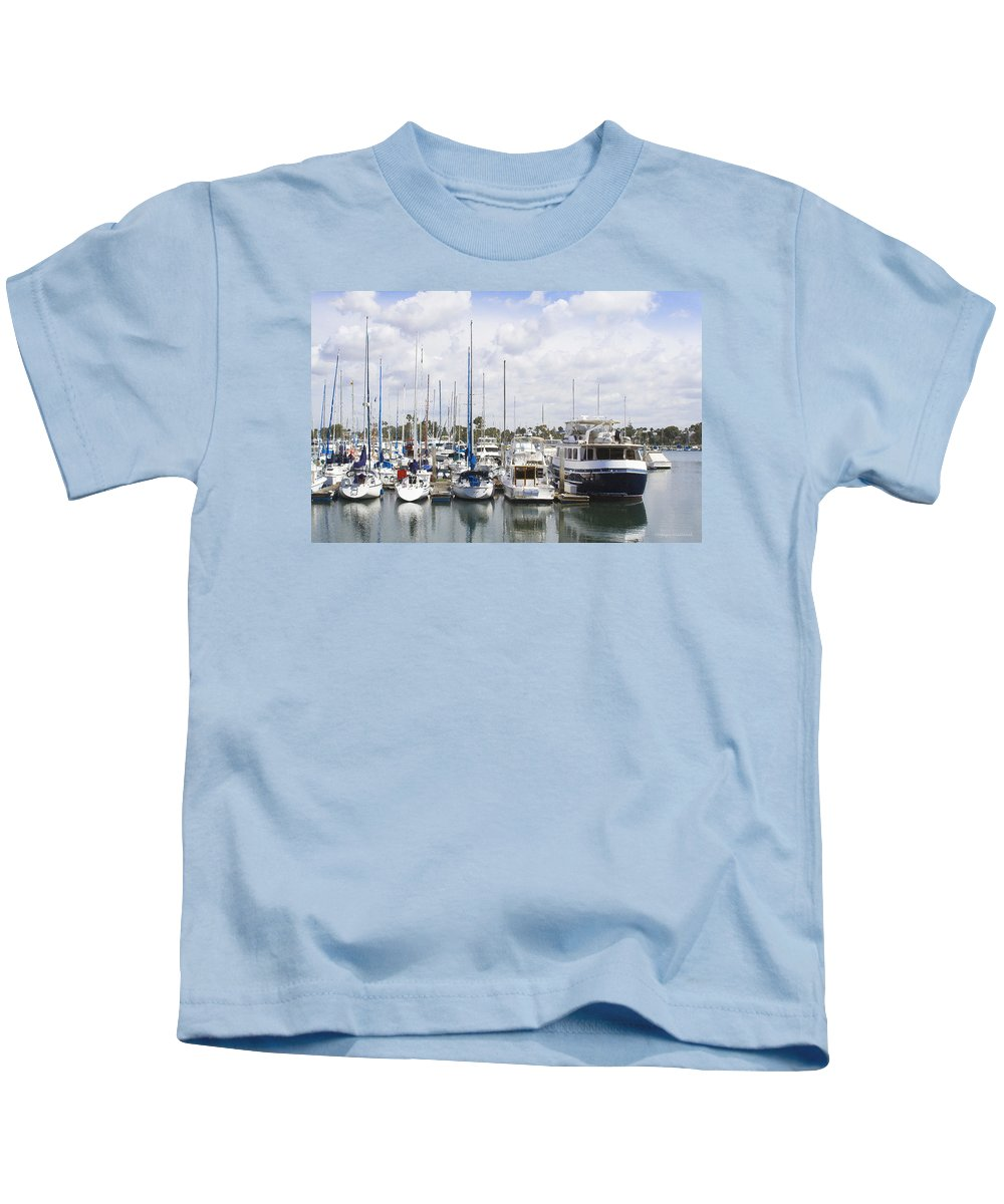 Coronado Kids T-Shirt featuring the photograph Coronado Boats II by Margie Wildblood