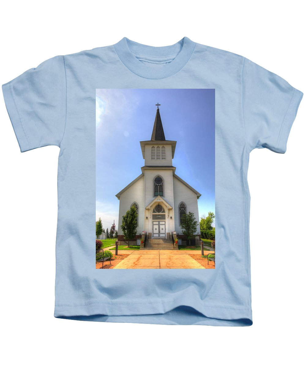 Church Kids T-Shirt featuring the photograph Country Church by Robert Storost