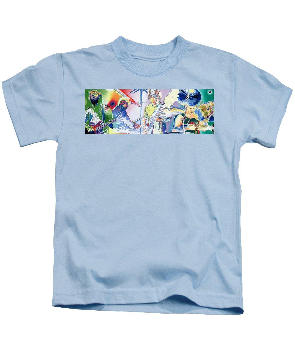 Phish Kids T-Shirt featuring the drawing Coventry Phish by Joshua Morton