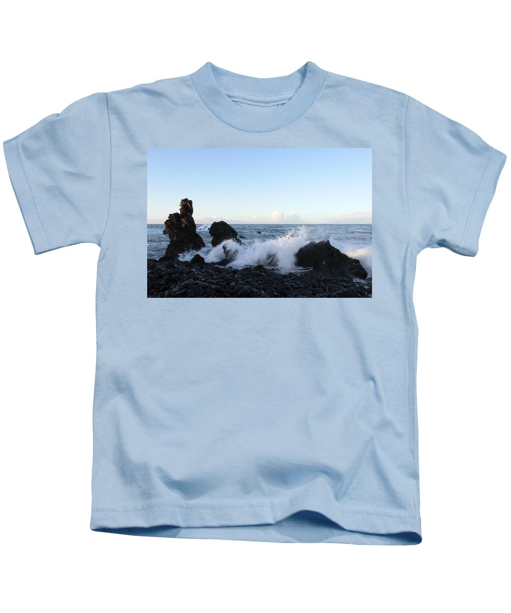 Waves Kids T-Shirt featuring the photograph Crashing Wave by Phil Crean