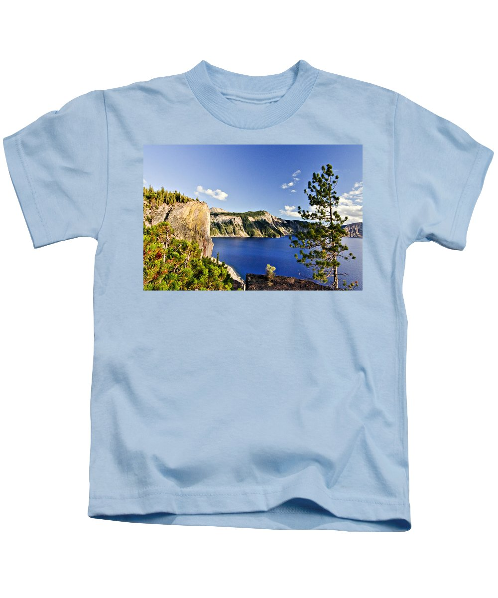 Crater Lake Kids T-Shirt featuring the photograph Crater Lake II by Albert Seger