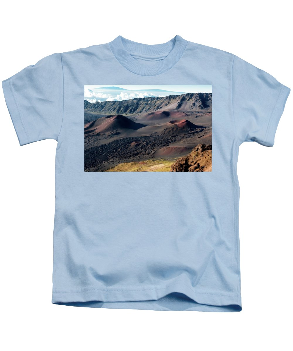Landscape Kids T-Shirt featuring the photograph Crater by Sue Maisano