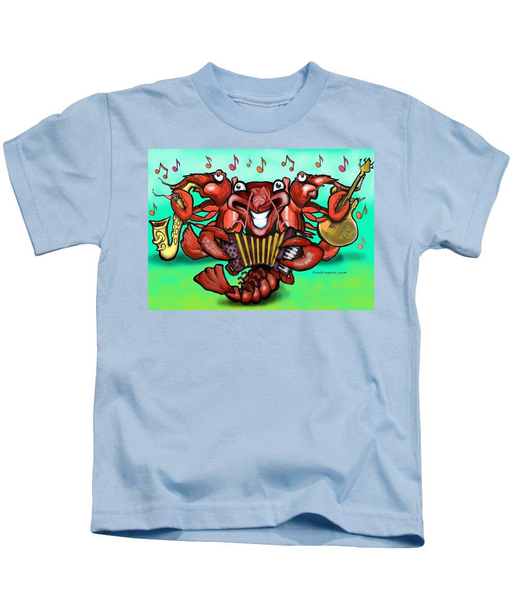 Crawfish Kids T-Shirt featuring the greeting card Crawfish Band by Kevin Middleton
