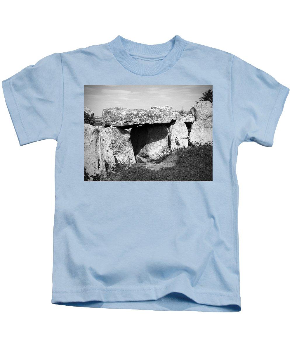 Ireland Kids T-Shirt featuring the photograph Creevykeel Court Cairn County Sligo Ireland by Teresa Mucha