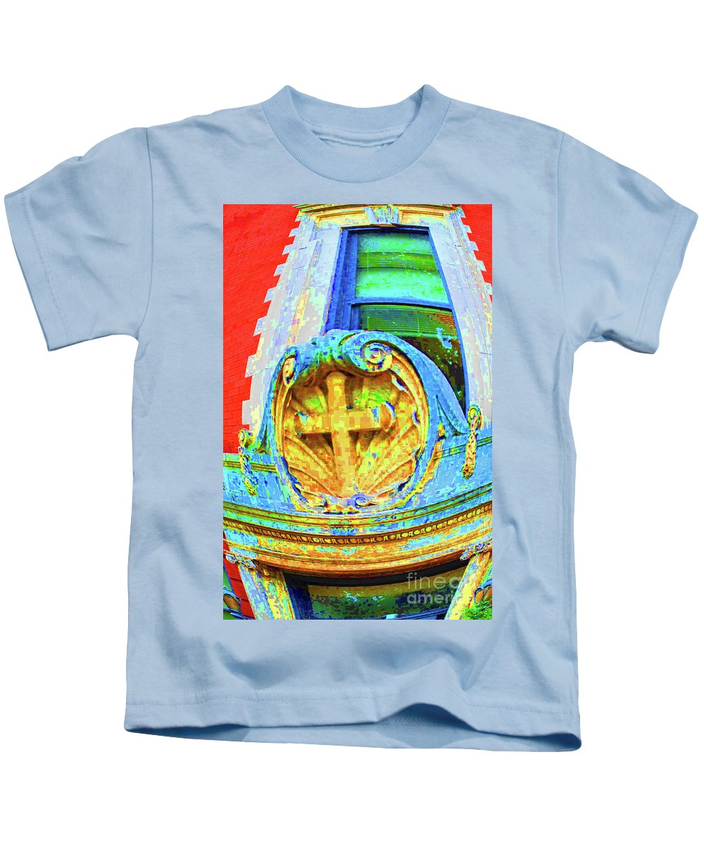 Georgetown Kids T-Shirt featuring the photograph Cross Of Georgetown by Jost Houk