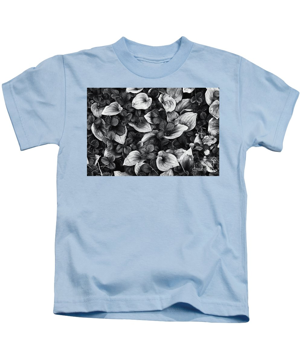 Leaves Kids T-Shirt featuring the photograph Crowded by Masako Metz