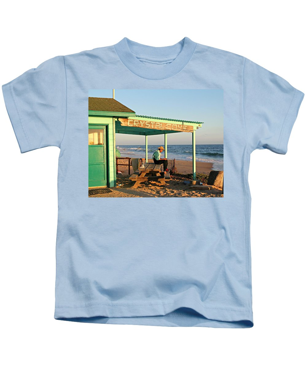 Crystal Cove Kids T-Shirt featuring the photograph Crystal Cove by Steve Natale