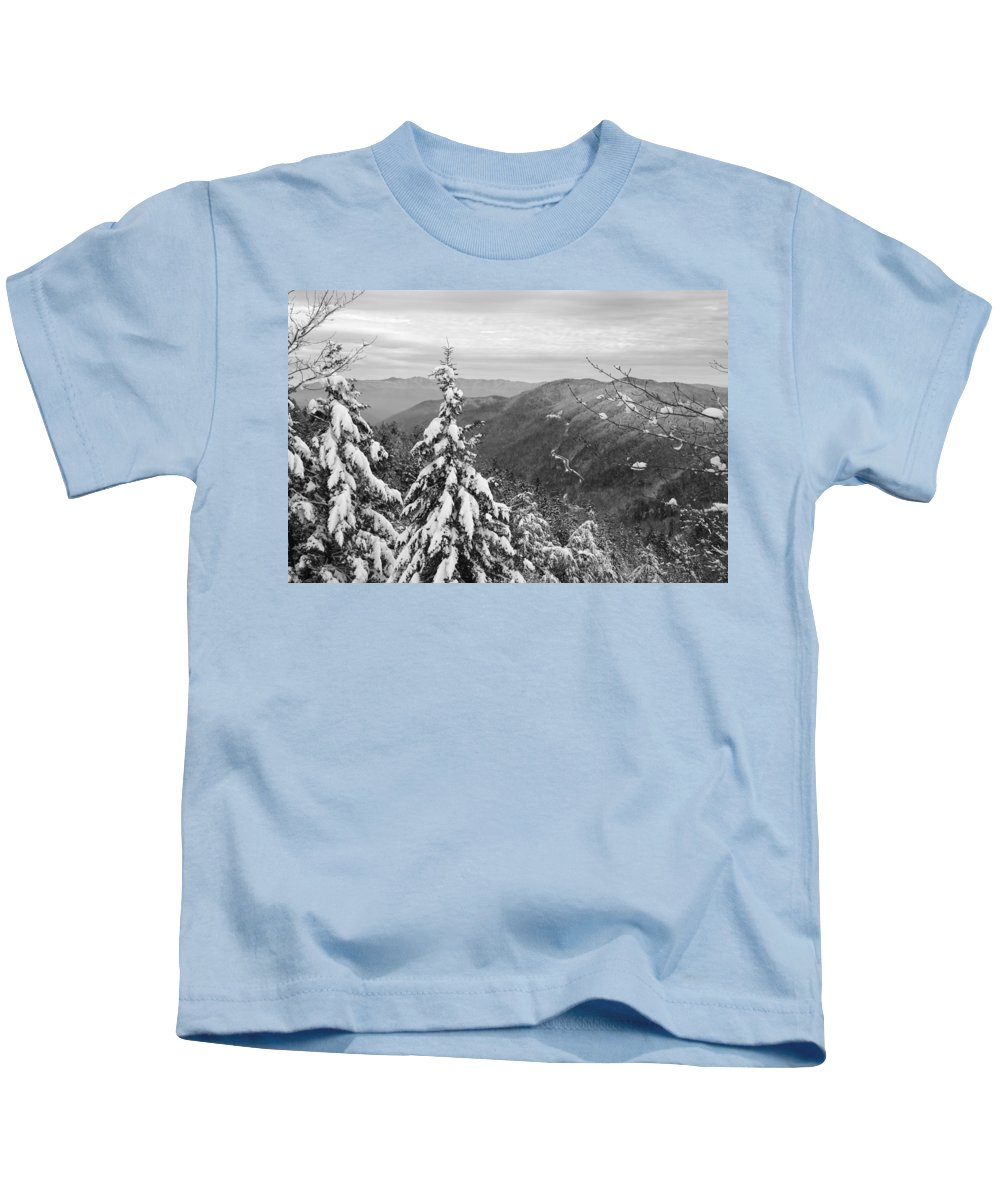 Great Smoky Mountains Kids T-Shirt featuring the photograph Cumberland Gap In The Smoky Mountains by Kristin Elmquist