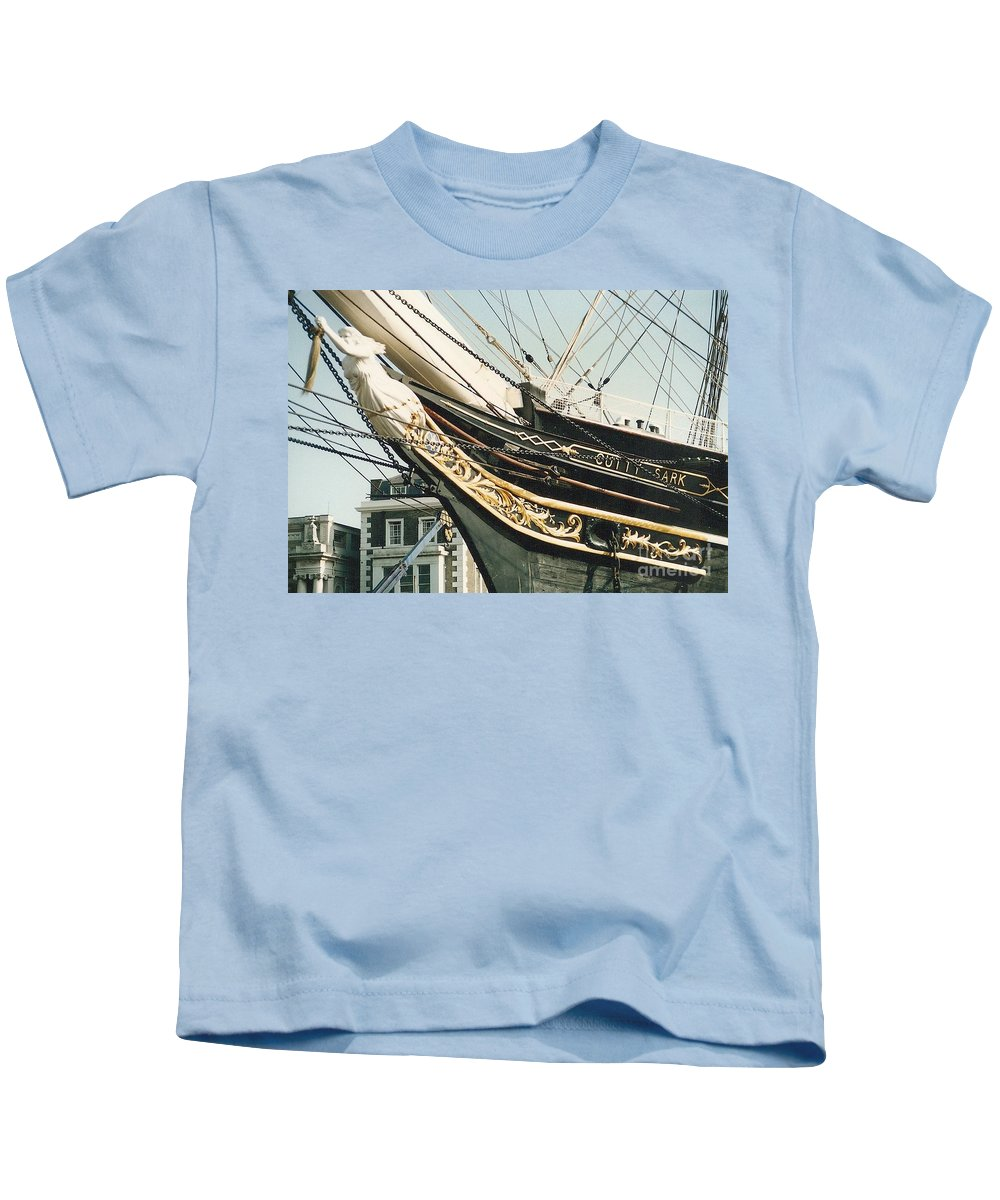 Ship Kids T-Shirt featuring the photograph Cutty Sark by Mary Rogers