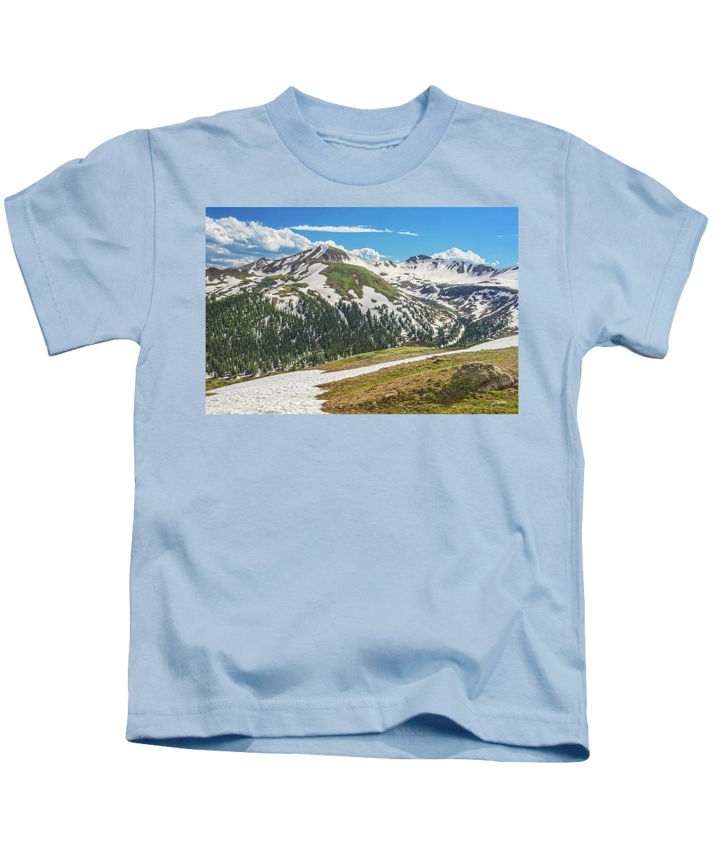 Independence Pass View Kids T-Shirt featuring the photograph Dagda, The Irish God Of The Earth by Bijan Pirnia