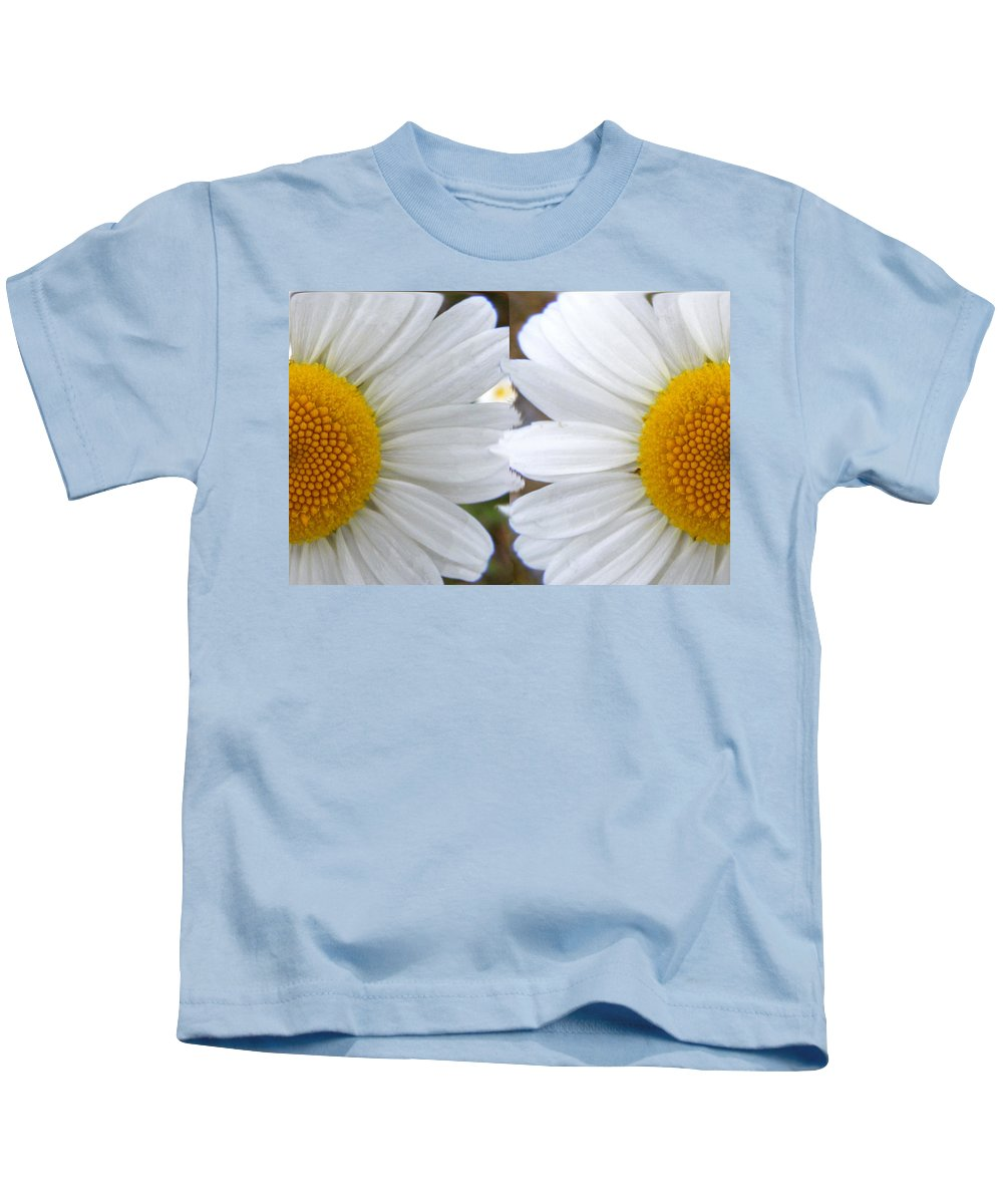 Abstracted Digital Art Kids T-Shirt featuring the digital art Daisy Magic by Barbara Griffin