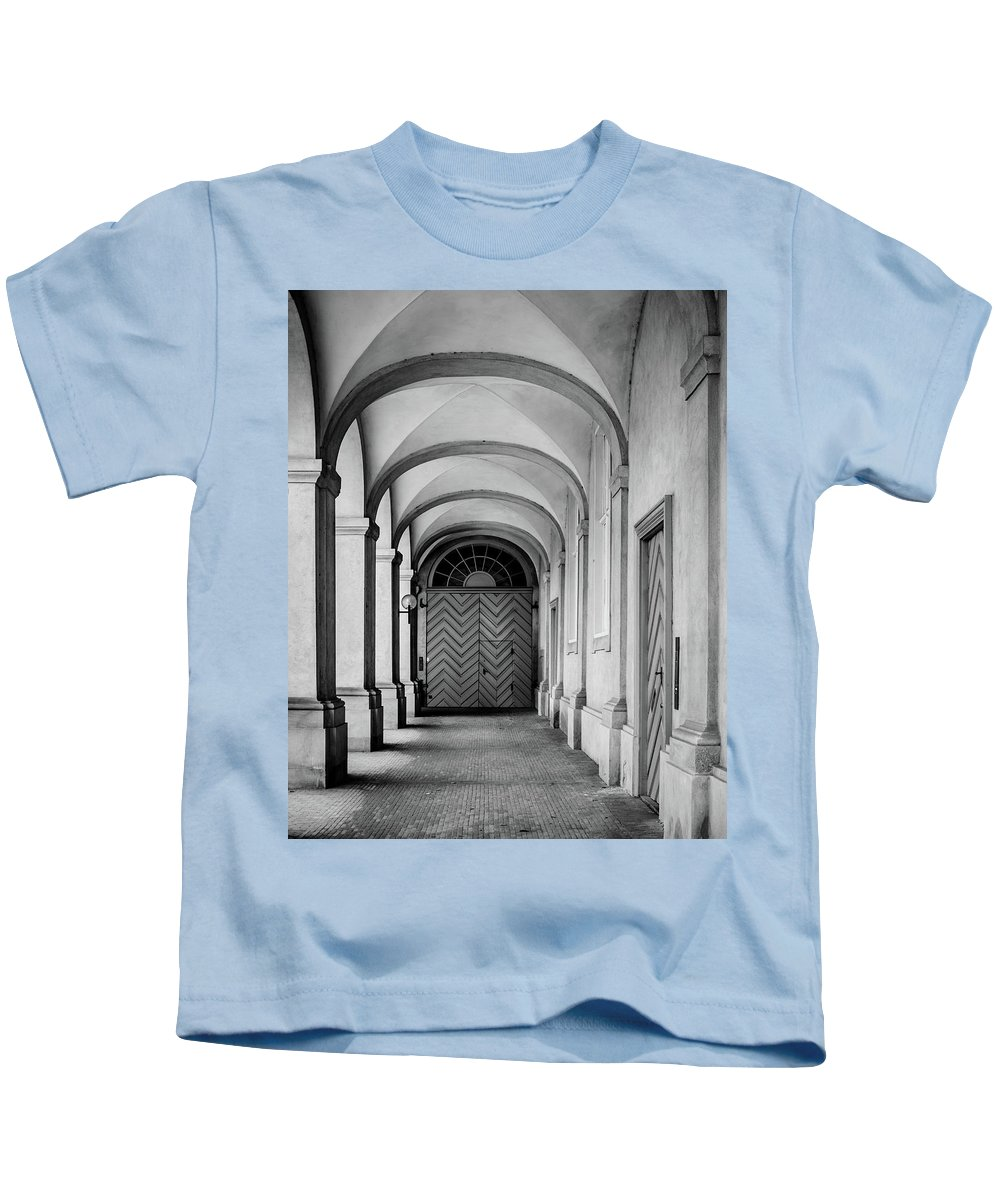 Christianborg Kids T-Shirt featuring the photograph Danish Vault by Michael Niessen
