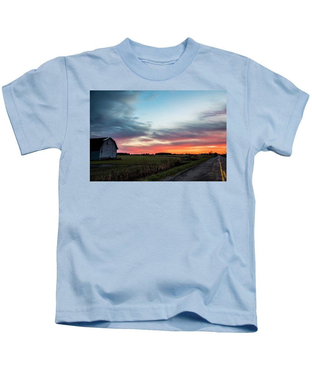 Sunrise Kids T-Shirt featuring the photograph Darkness Ends by Angela Mocniak