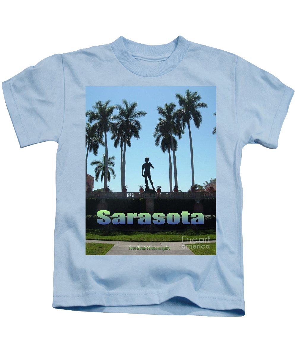 Ringling Museum Kids T-Shirt featuring the photograph David In Sarasota by Jost Houk