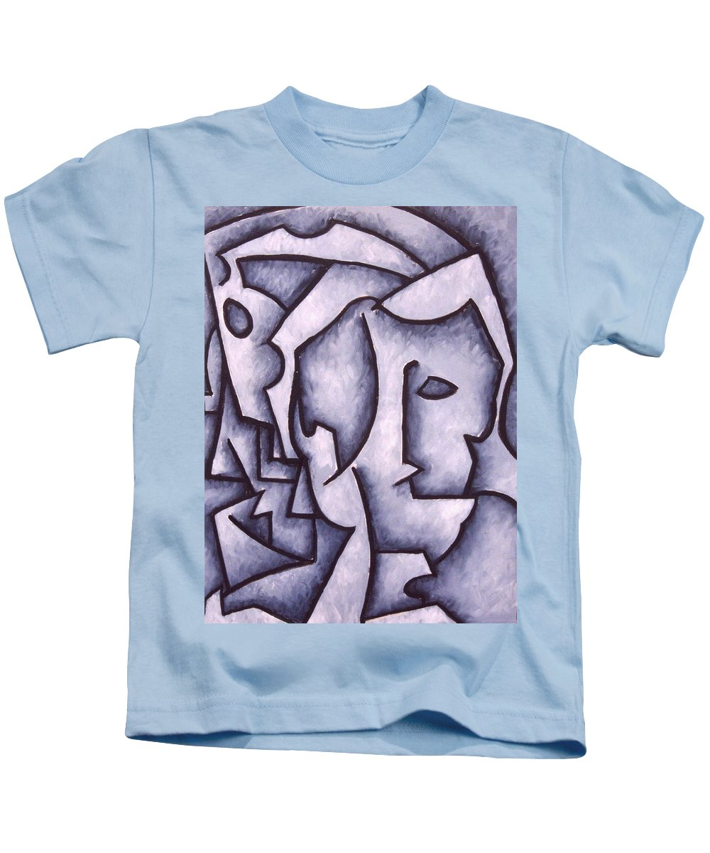 Abstract Kids T-Shirt featuring the painting David by Thomas Valentine