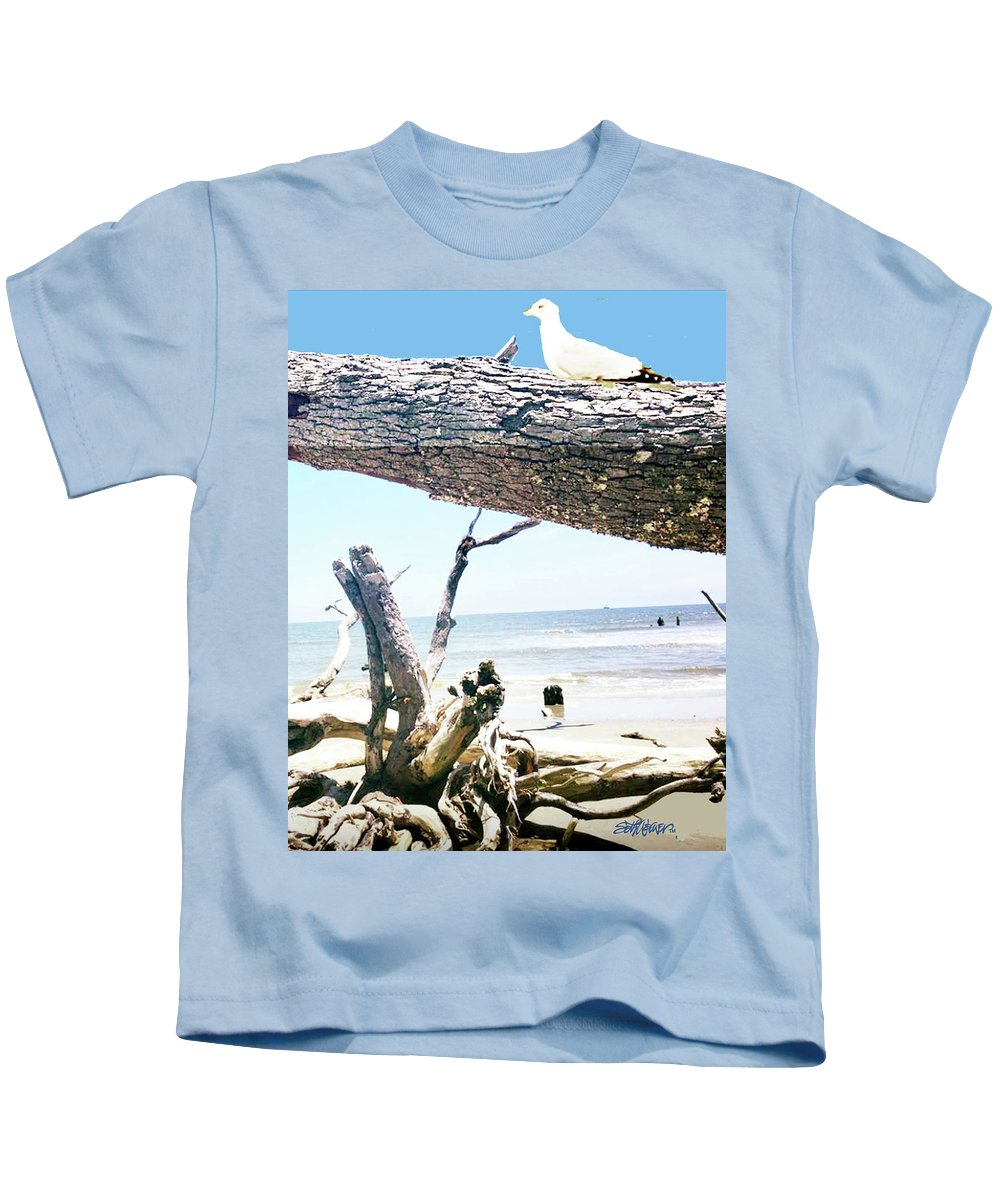 Daydreams And Driftwood Kids T-Shirt featuring the photograph Daydreams and Driftwood by Seth Weaver