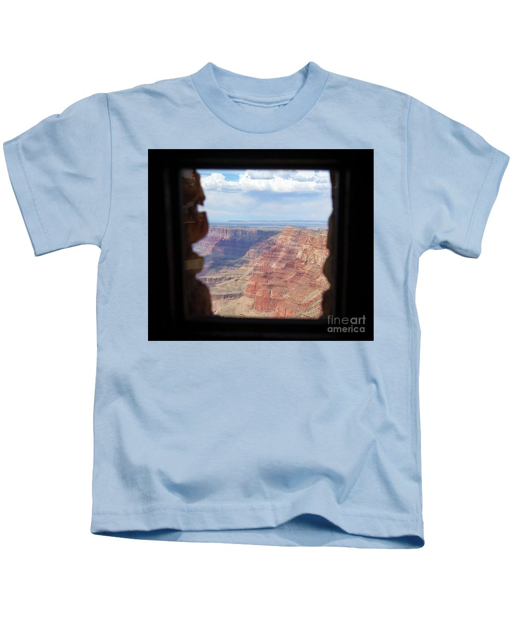 Grand Canyon Kids T-Shirt featuring the photograph Desert Watchtower View Grand Canyon by Chuck Kuhn