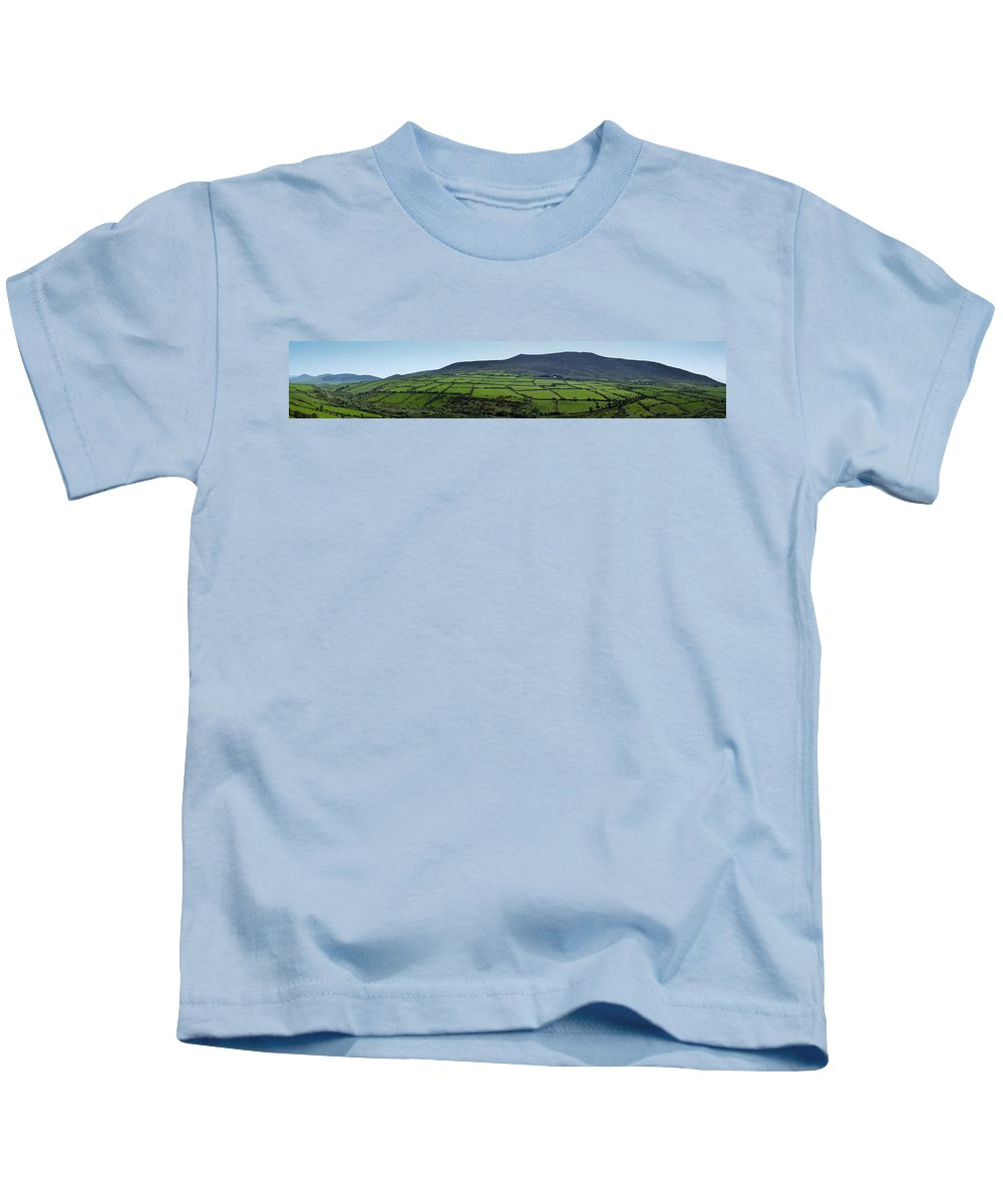 Irish Kids T-Shirt featuring the photograph Dingle Peninsula Panorama Ireland by Teresa Mucha