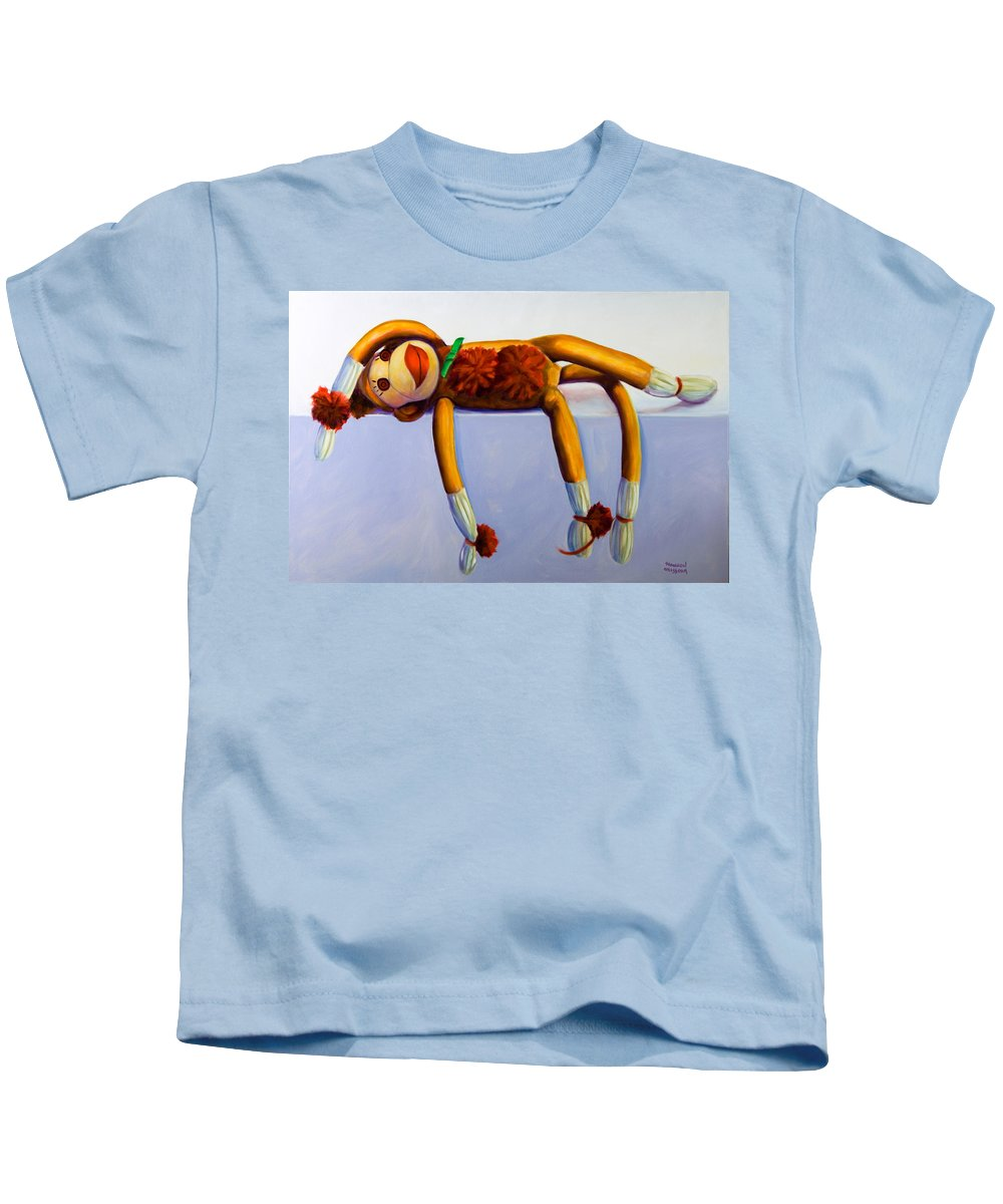 Diva Kids T-Shirt featuring the painting Diva Made Of Sockies by Shannon Grissom