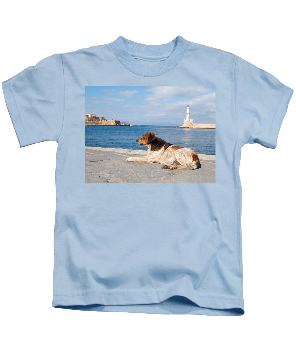 Architecture Kids T-Shirt featuring the photograph Dog Watch by Jouko Lehto