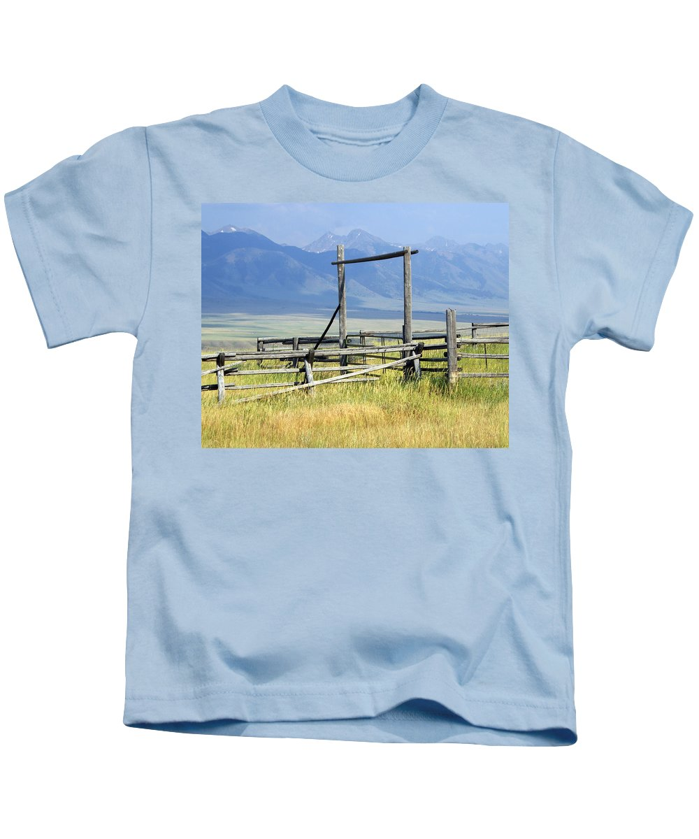 Mountains Kids T-Shirt featuring the photograph Don't Fence Me In by Marty Koch