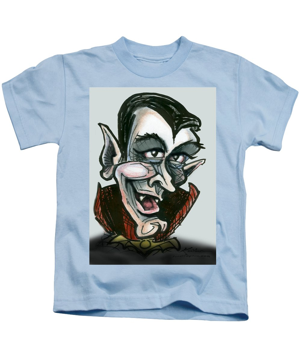 Dracula Kids T-Shirt featuring the greeting card Dracula by Kevin Middleton