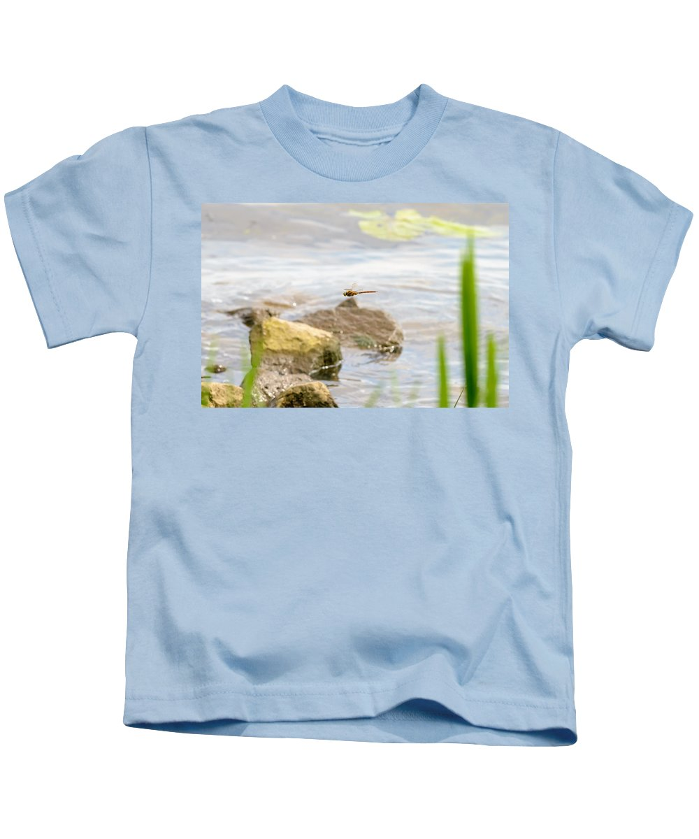 Dnieper Kids T-Shirt featuring the photograph Dragonfly Flying by Alain De Maximy
