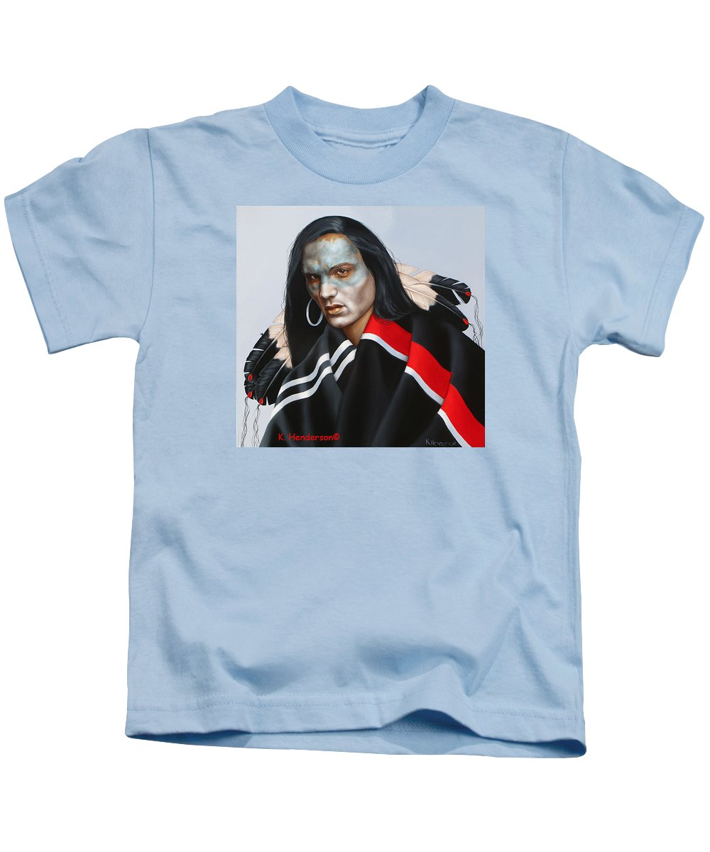 American Indian Kids T-Shirt featuring the painting Dream Within A Dream by K Henderson
