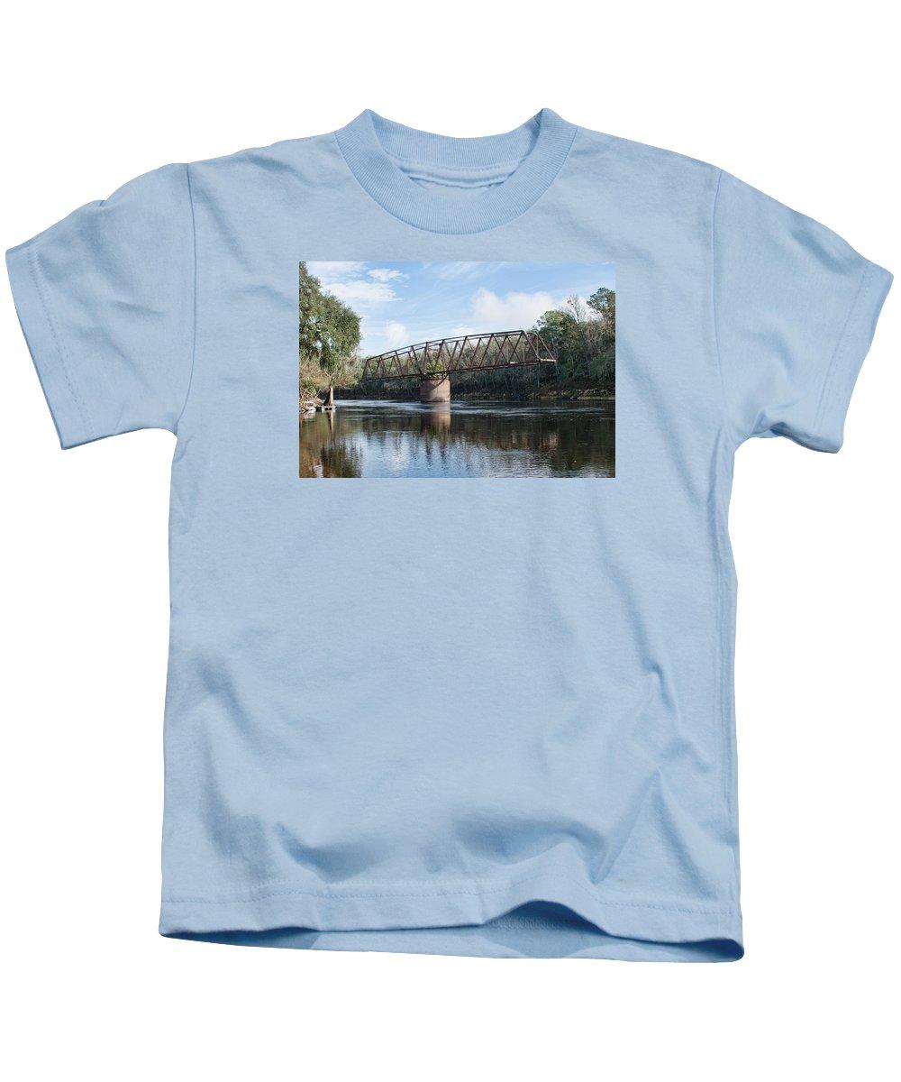 Bridges Kids T-Shirt featuring the photograph Drew Bridge by John Black