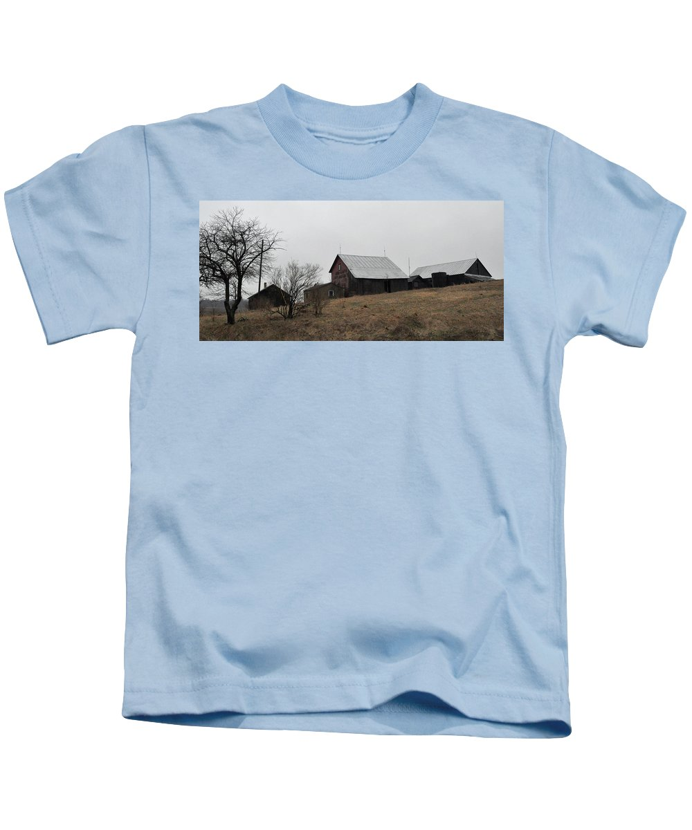 Farm Kids T-Shirt featuring the photograph Early Spring Farm by Tim Nyberg