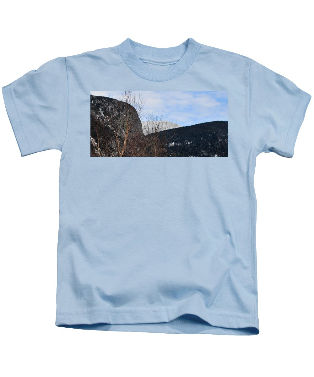 Back Roads Of New Hampshire January 28 Kids T-Shirt featuring the photograph East From Cannon Mountain by Bill Driscoll