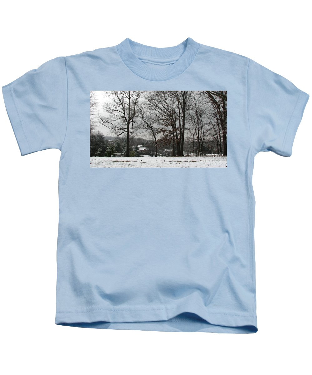 Landscape Kids T-Shirt featuring the photograph East Tennessee Winter by Todd Blanchard