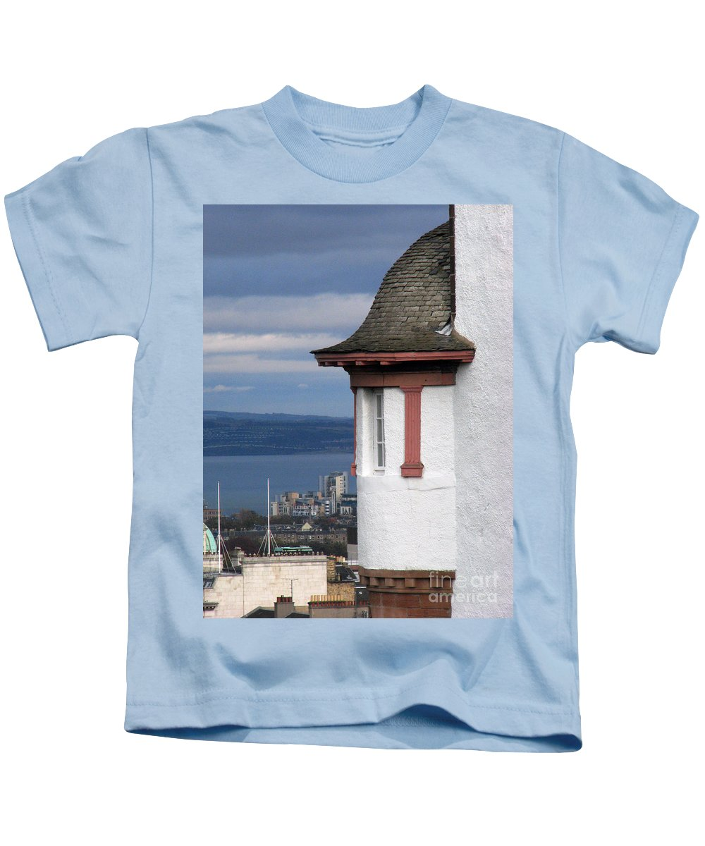 Scotland Kids T-Shirt featuring the digital art Edinburgh Scotland by Amanda Barcon