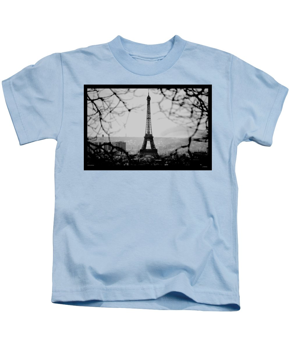 Eiffel Kids T-Shirt featuring the photograph Eiffel Eyeful by J Todd