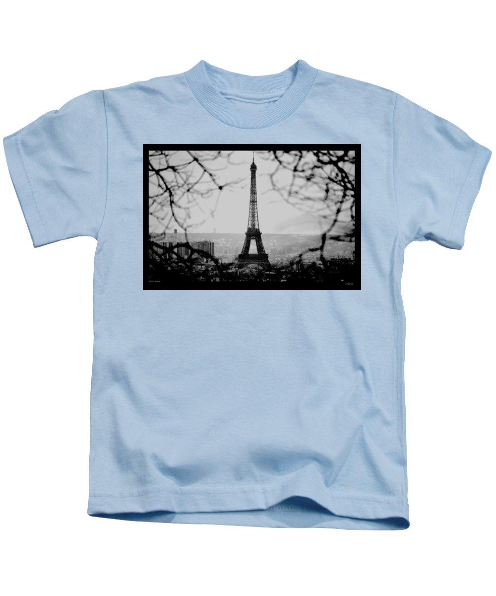 Eiffel Kids T-Shirt featuring the photograph Eiffel Eyeful by J Todd