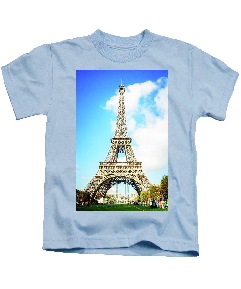 Eiffel Kids T-Shirt featuring the photograph Eiffel Tower Portrait by Anastasy Yarmolovich