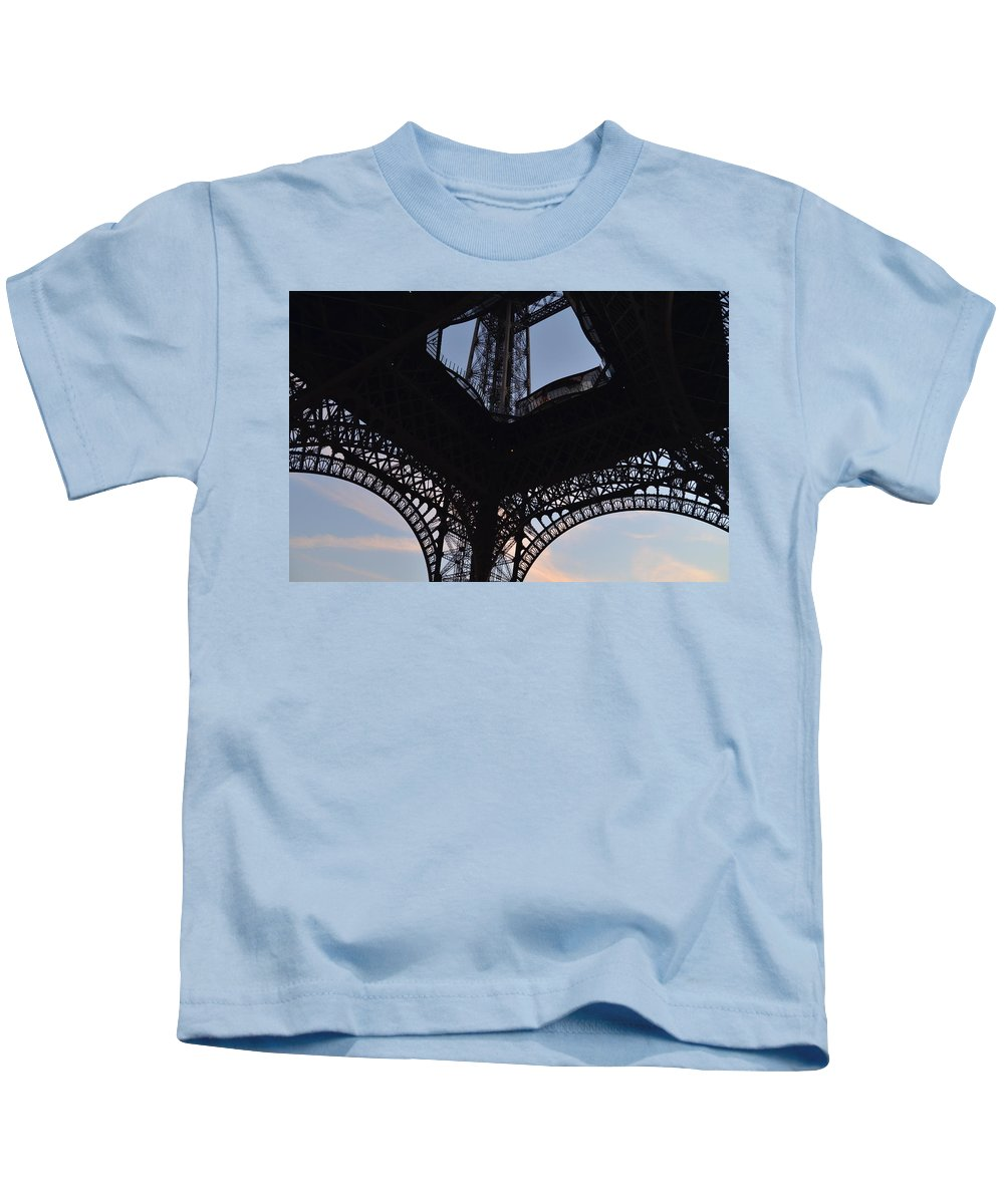 Eiffel Tower Kids T-Shirt featuring the photograph Eiffel Tower Corner by Dawn Crichton