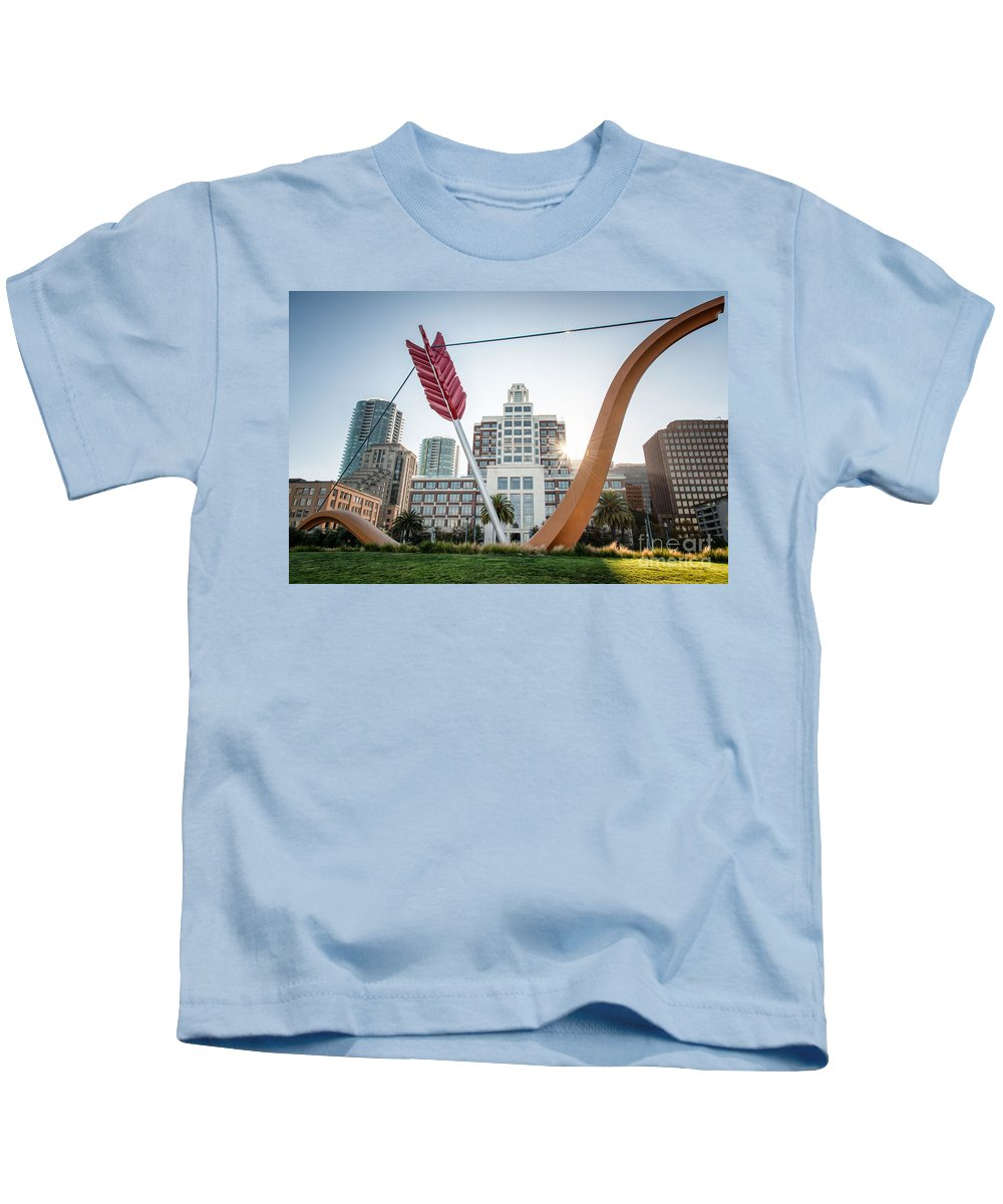 Bow And Arrow Kids T-Shirt featuring the photograph Embarcadero Bow And Arrow by Mark Chandler